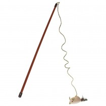 """Our Pets Flick'n Stick Wand Cat Toy Brown 2.75"""" x 1.2"""" x 18"""""""