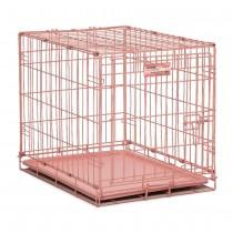 "Midwest iCrate Single Door Dog Crate Pink 24"" x 18"" x 19"" - 1524PK"