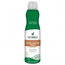 """Vet's Best Dog Flea and Tick Home and Go Spray 6.3oz Green 2.09"""" x 2.09"""" x 8.75"""""""
