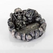"BioBubble Decorative Skeleton Dish Large Silver 5.5"" x 5"" x 2.75"" - BIO-60135200"