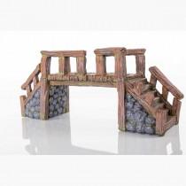 "BioBubble Decorative Wood Bridge Large 16"" x 5.25"" x 7"" - BIO-60228100"