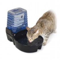 "K&H Pet Products CleanFlow Cat Ceramic Fountain with Reservoir 170 oz.0 Black 11.5"" x 9"" x 10.5"" KH2572"