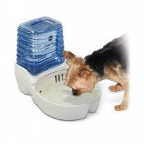 "K&H Pet Products CleanFlow Dog Ceramic Fountain with Reservoir 170 oz. Small Off-White 11.5"" x 9"" x 10.5"" KH2581"