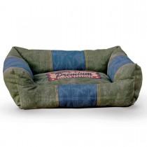 """K&H Pet Products Vintage Lounger Pet Bed Premium Logo Olive / Blue 16"""" x 20"""" x 6"""""""