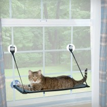 "K&H Pet Products Kitty Sill - EZ Window Mount Gray / Black 12"" x 23"" x 0.5"" - KH9091"