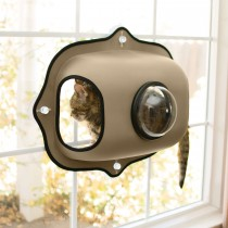 "K&H Pet Products EZ Mount Window Bubble Cat Pod Tan 27"" x 20"" x 7.5"""