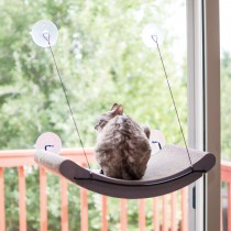 "K&H Pet Products EZ Mount Cat Scratcher Kitty Sill Cradle Tan 11"" x 20"" x 2"""