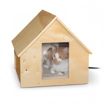"K&H Pet Products Birdwood Manor Thermo-Kitty House Wood 18"" x 16"" x 15"""