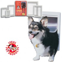 Ideal Original Pet Door Medium White - PPDM