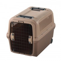 "Richell Mobile Pet Carrier Tan/Brown 26.2"" x 18.3"" x 20.1""  - R94915"